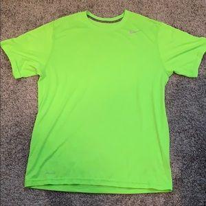 Lime green Nike dri-fit shirt